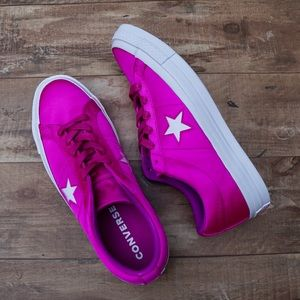 *New* Converse One Star Ox Pink Satin Women's